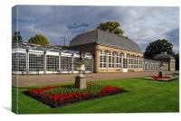 Sheffield,Botanical Gardens & The Glass Houses , Canvas Print
