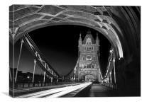 Tower Bridge London at Night , Canvas Print