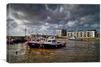 West Bay Harbour , Canvas Print