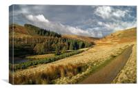 Footpath To Little Moor, Howden Reservoir         , Canvas Print