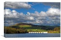 Clouds gathering over Ladybower, Canvas Print