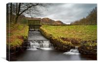 Yew Tree Beck and Tarn, Canvas Print