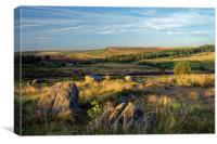 Burbage Rocks from Owler Tor                      , Canvas Print