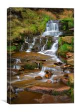 Nether North Grain Waterfalls                     , Canvas Print