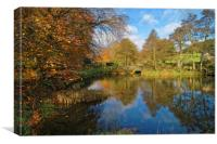 Bentley Brook Pond In Autumn                    , Canvas Print