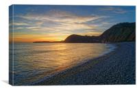 Sidmouth Sunset                      , Canvas Print