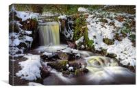 Upper Coppice Wheel in Winter                     , Canvas Print