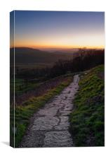Peak District Sunset                           , Canvas Print