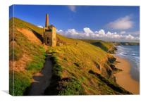 Wheal Coates & North Cornwall Coastline , Canvas Print