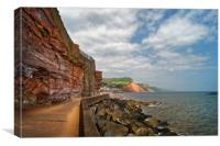 Coastline at Sidmouth                       , Canvas Print