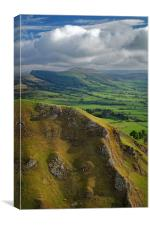 Winnats Pass & Hope Valley                      , Canvas Print
