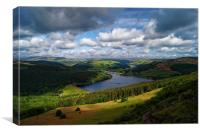 Ladybower & Derwent Valley                      , Canvas Print