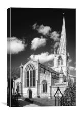 The Church of St Mary and All Saints, Chesterfield, Canvas Print