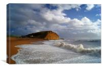 Stormy Sea at West Bay                       , Canvas Print