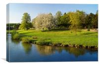 River Wye from Bakewell Bridge                    , Canvas Print