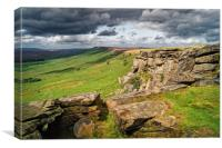 Stanage Edge                     , Canvas Print