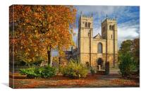 Worksop Priory                      , Canvas Print