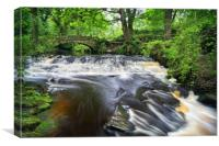 Rivelin Packhorse Bridge & Weir                  , Canvas Print