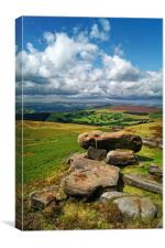 Hope Valley from Stanage Edge                     , Canvas Print
