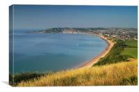 Swanage from Ballard Down                     , Canvas Print