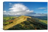 The Great Ridge from Back Tor                     , Canvas Print
