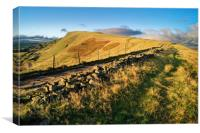 Footpath to Mam Tor                     , Canvas Print