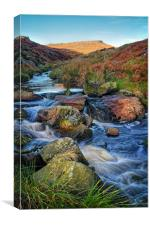Burbage Brook during Autumn                     , Canvas Print