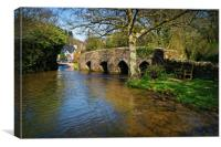 Bury Bridge & River Haddeo                     , Canvas Print