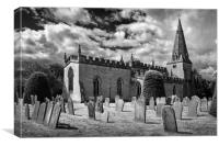 St Anne's Church,Baslow                    , Canvas Print