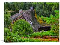 Laggan Dam Scotland, Canvas Print