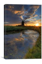 Herringfleet smock mill, Canvas Print