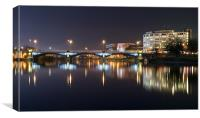 Trent Bridge Reflections, Canvas Print