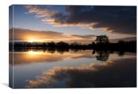 Colwick Sunrise, Canvas Print