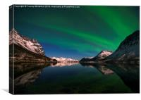 Aurora Reflections, Canvas Print