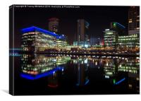 Media City, Canvas Print