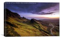 Sunrise at the Quiraing , Canvas Print