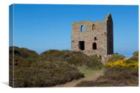 Wheal Coates Engine House, Canvas Print