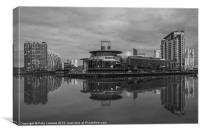 Salford Quays, Quays Theatre, Canvas Print
