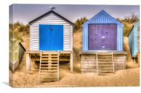 Beach Huts Abersoch, Canvas Print