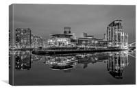 Quays Theatre Manchester, Canvas Print
