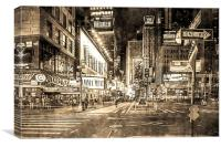 Broadway to Times Square, Canvas Print