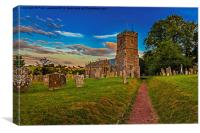 St Cyres and St Julitta Church, Exeter, Canvas Print