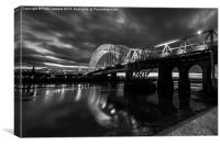 Runcorn Bridge - Silver Jubilee Bridge, Canvas Print
