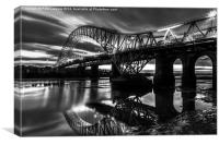 Runcorn Bridge ii , Canvas Print