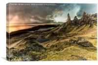 Old Man of Storr Dramatic Sunrise, Canvas Print