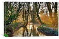 Another Sunrise on the  'WEY', Canvas Print