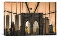 Brooklyn Bridge at Dawn, Canvas Print