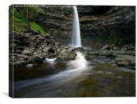Waterfall at Hardraw Force, Canvas Print