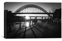 Tyne Bridge Silhouette, Canvas Print