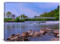 MILLER CROSSING RIVER EXE EXETER, Canvas Print